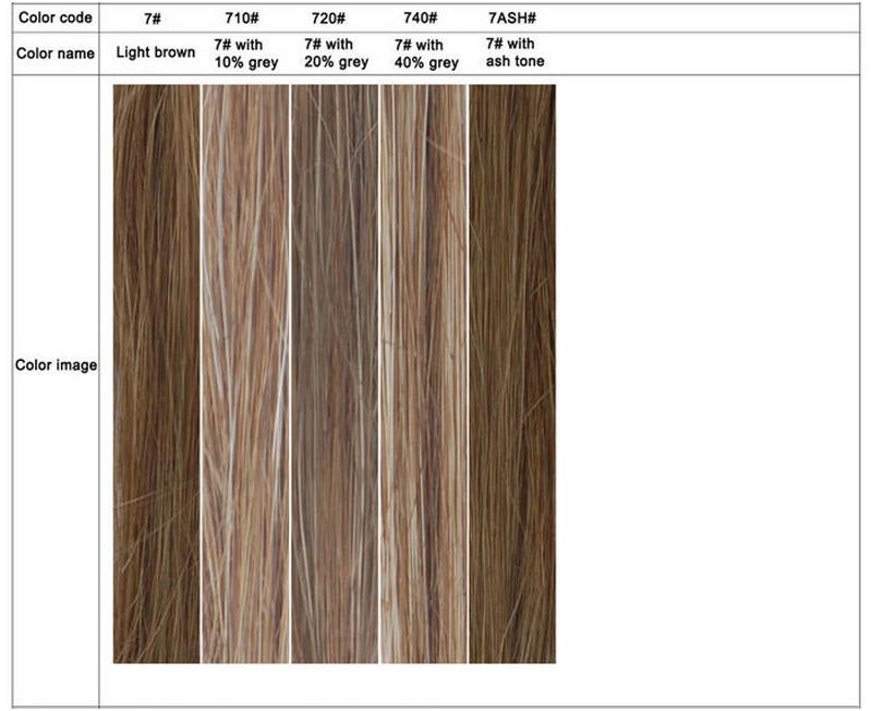 Мужская цветовая палитра для системы волос